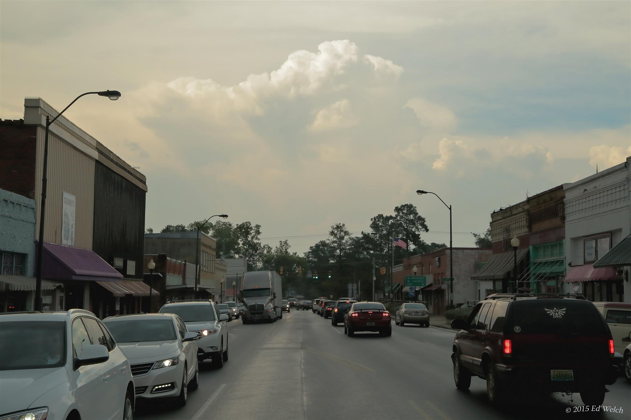 August 7, 2015 - Downtown after a storm.