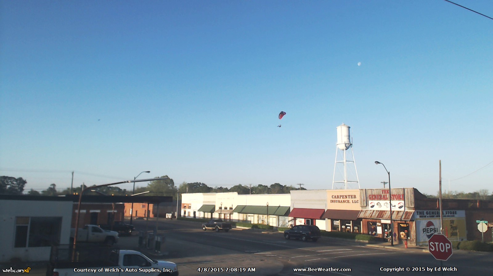 April 8, 2015 - A parachuter over Luverne.