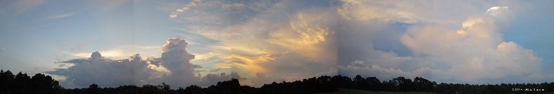 July 18, 2013 - A panorama of weather.